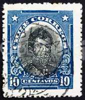 Postage stamp Chile 1912 Bernardo O?Higgins Riquelme
