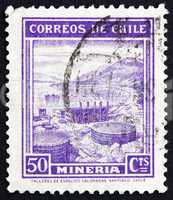 Postage stamp Chile 1938 Mining, Industry
