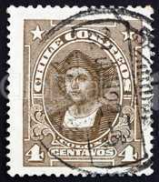 Postage stamp Chile 1918 Christopher Columbus, Explorer
