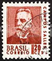 Postage stamp Brazil 1967 Campos Sales, President