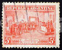 Postage stamp Argentina 1916 Declaration of Independence, Argent
