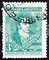 Postage stamp Argentina 1945 Bernardino Rivadavia, President