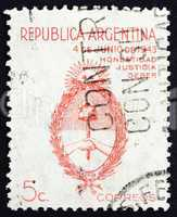 Postage stamp Argentina 1943 Arms of Argentina