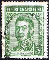 Postage stamp Argentina 1935 Jose de San Martin, General