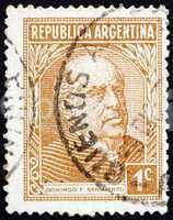 Postage stamp Argentina 1935 Domingo Faustino Sarmiento