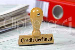 credit declined