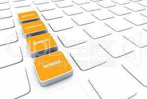 Quader Konzept Orange - Beratung Kompetenz Qualität Service 6