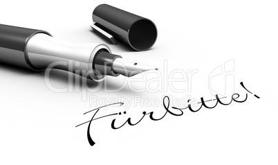 Fürbitte! - Stift Konzept