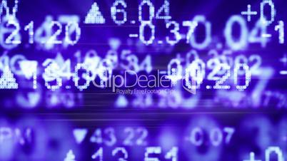 stock market quotes blue seamless loop background