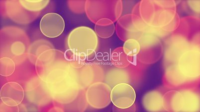 delicate pink yellow circle bokeh lights loop background