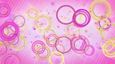 circles lines pink yellow loop background