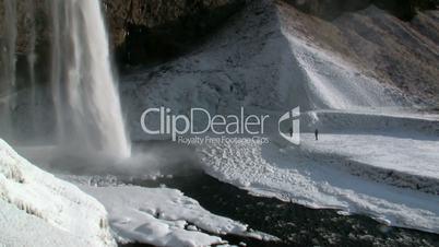 Seljalandsfoss (Seljalands waterfall) in Iceland