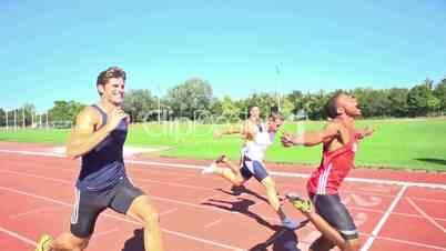 100m finish slow motion