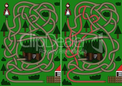 Little Red Riding Hood maze