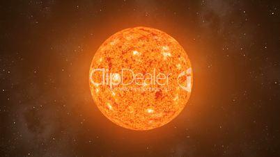 Sun Orbiting Loop CGI HD
