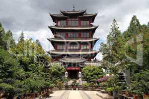 Pagoda and garden