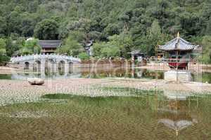 Pagoda and bridge