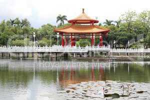 Pagoda on the lotus pond