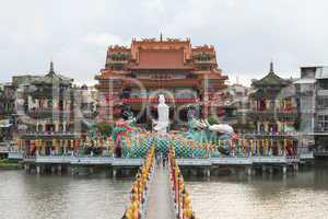 Pier and chinese temple