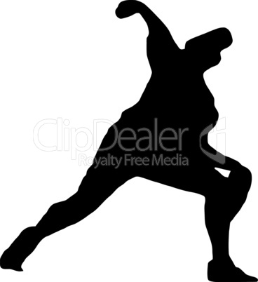 Sport Silhouette - Baseball Pitcher