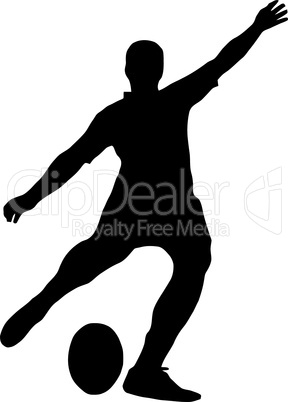 Sport Silhouette - Rugby Football Kicker