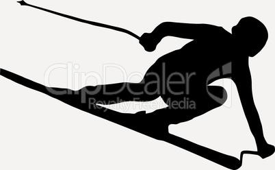 Sport Silhouette - Speeding Skier