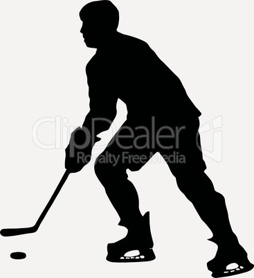 Sport Silhouette - Ice Hockey Player