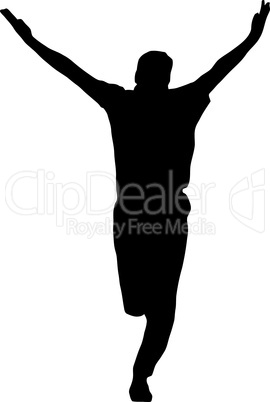 Sport Silhouette - Bowler celebrating