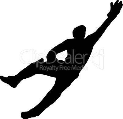 Sport Silhouette - Wicket-Keeper Dive