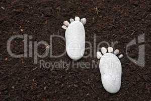 Füße aus Stein