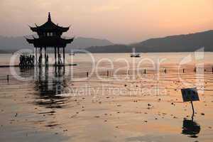 Pagoda and people