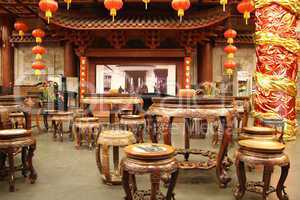 Inside traditional chinese tea house