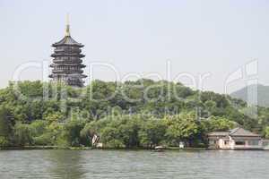 Pagoda Leifeng on the bank of West lake