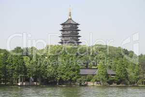 Pagoda Leifeng on the bank