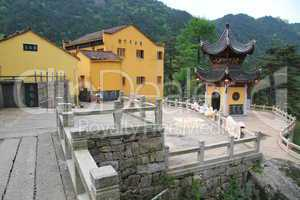 Chinese temple and pagoda