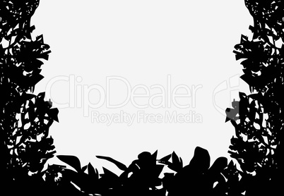 Isolated Bush Frame Vector