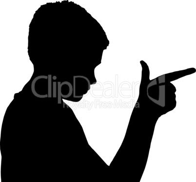Isolated Boy Child Gesture Gun Finger