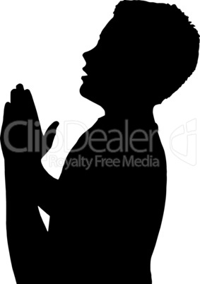 Isolated Boy Child Gesture Praying