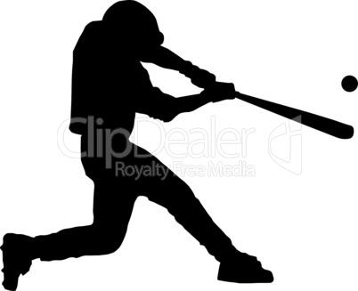Baseball Batter Hitting Ball