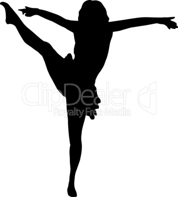 Dancing Girl High Kick
