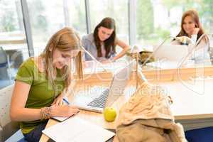 Group of students sitting at study room