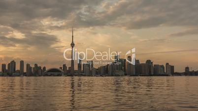Timelapse Toronto Skyline Sunset