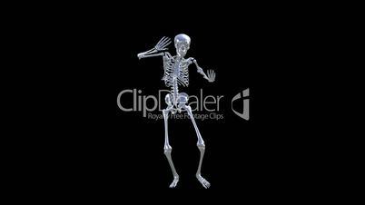 Skeleton Disco Dancing . Chrome - Heaven Blue + Alpha  CGI