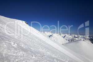 Off-piste slope