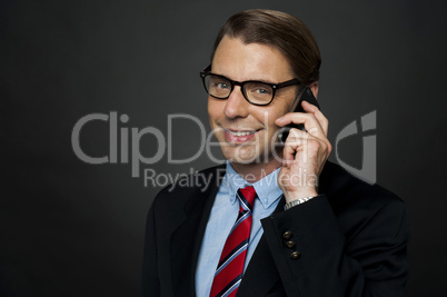 CEO communicating with his business clients