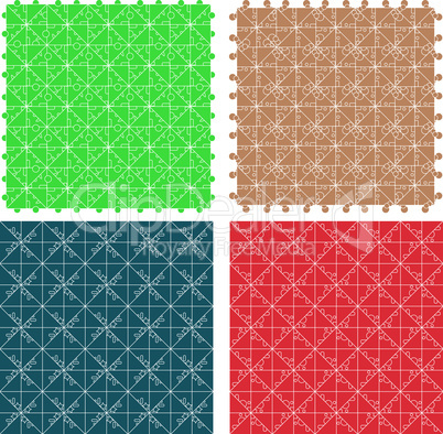 Seamless abstract pattern set for fabric and furniture. vector
