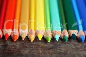 Crayons On Wood
