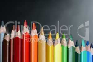 Color Pencils On Dark