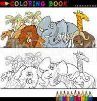 Wild Safari Animals for Coloring