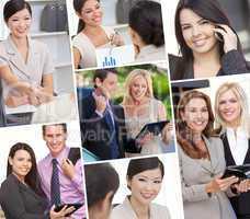 Interracial Men & Women Business Team